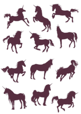 New Unicorn Silhouettes Vector Collection Free CDR Vectors Art