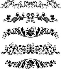 Black Vector Ornaments Set Free CDR Vectors Art