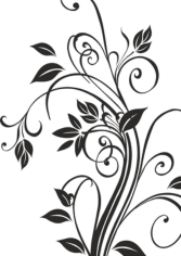 Floral Silhouettes Free CDR Vectors Art