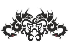 Car Hood Decal Dragon Animal Murals Predator Tribal Tattoo Free CDR Vectors Art