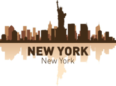 New York Skyline Free CDR Vectors Art