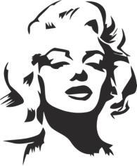 Marilyn Monroe Stencil Free CDR Vectors Art
