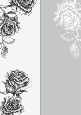 Rose Sandblast Pattern Free CDR Vectors Art