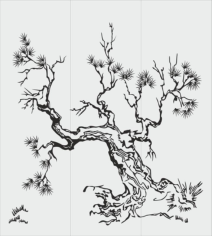Tree Sandblasting Stencil Free CDR Vectors Art