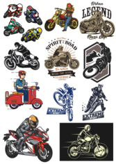 Motorcycle Chopper Racer Vinyl Sticker Decals Free CDR Vectors Art