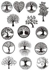 Vector ornament, decorative Celtic tree of life Free CDR Vectors Art