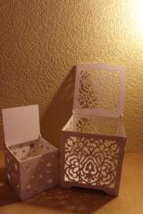 Laser Cut Wood Box with Flower Motif Free CDR Vectors Art
