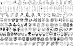 Tribal Skull Free CDR Vectors Art