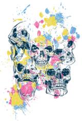 Skulls Print Free CDR Vectors Art