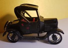 Ford-T 3D Puzzle Free CDR Vectors Art