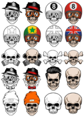 Vectors Skull In Cap Free CDR Vectors Art