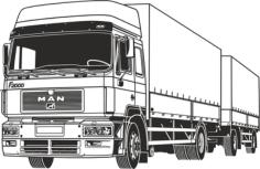 Truck Free CDR Vectors Art