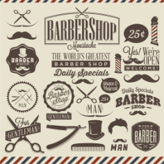 Barbershop Vector Design Free CDR Vectors Art