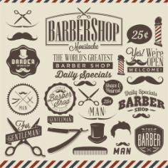 Barbershop Vector Design Free CDR Vectors Art
