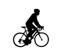 Cycle Silhouette Free CDR Vectors Art