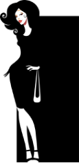 Silhouette of an elegant woman Free CDR Vectors Art