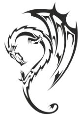Dragon Tribal Tattoo Free CDR Vectors Art