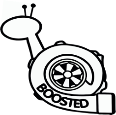 Boosted Snail Sticker Vinyl Decal Free CDR Vectors Art