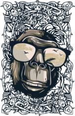 Monkey Print Free CDR Vectors Art