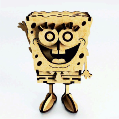 SpongeBob Laser Cut Free CDR Vectors Art