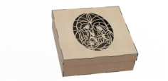 Wood Laser Cut Box Free CDR Vectors Art