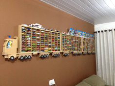 Toy Car Storage Rack for 300 Trucks Free CDR Vectors Art