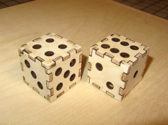 Laser Cut Dice 3D Puzzle Free CDR Vectors Art