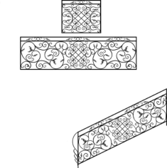 Wrought Iron Stairs Railing Design Free CDR Vectors Art