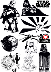 Star Wars Vectors Pack Free CDR Vectors Art