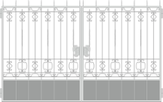 Forged Gates Design Free CDR Vectors Art