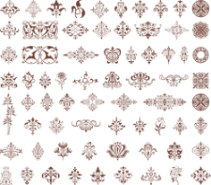 Ornamental design element Free CDR Vectors Art
