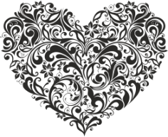 Ornament Heart Free CDR Vectors Art