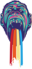 Vomiting Gorilla Print Free CDR Vectors Art
