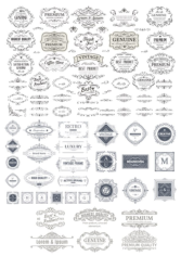 Vintage Elements Collection Free CDR Vectors Art