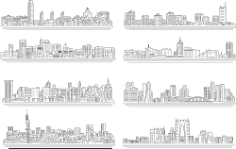 Line City Set Free CDR Vectors Art