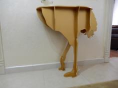Ostrich Console Table Laser Cut CNC Template Free CDR Vectors Art