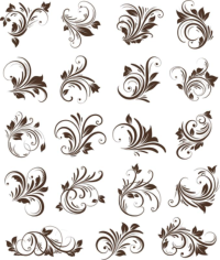 Floral Ornaments Element Free CDR Vectors Art