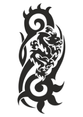 Dragon Black And White Free CDR Vectors Art