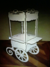 Candy Bar Cart CNC Plans Free CDR Vectors Art