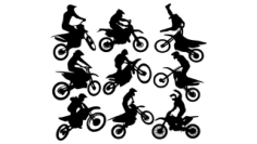 Motocross Free CDR Vectors Art