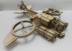 Helicóptero Banshi Avatar Sa-2 Samson Similar Free CDR Vectors Art