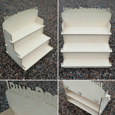 Decorative Stair Step Shelf Organizer 6 Mm Free CDR Vectors Art