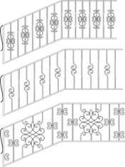 Wrought Iron Stairs Railing Free CDR Vectors Art