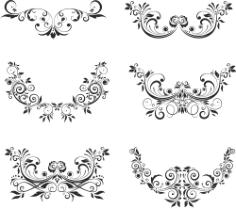 Floral Elements Free CDR Vectors Art