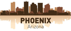 Phoenix Arizona skyline city silhouette Free CDR Vectors Art