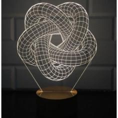 3D Torus Spiral Lamp Free CDR Vectors Art
