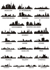 City Silhouette Free CDR Vectors Art