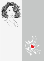 Sketch Of Stylish Young Girl Sandblast Pattern Free CDR Vectors Art