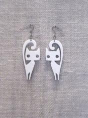 Cat Earrings Laser Cut Free CDR Vectors Art
