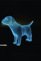 Dog  3D LED Night Light Free CDR Vectors Art